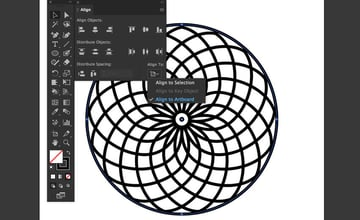 align to artboard objects panel ellipse tool center