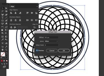 object path offset ellipse pixels set stroke