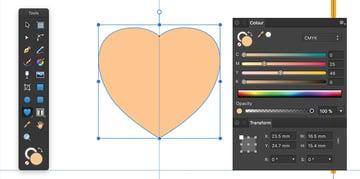 transform heart shape thru nodes