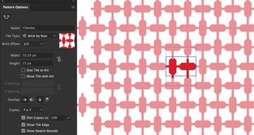 Checker Pattern design jordanian hatta tile type brick offset height and copies