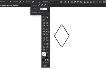 direct selection tool corners live widget control panel rounding round style radius set