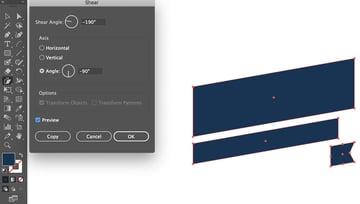shear tool slant banner tools panel object transform shear