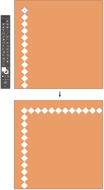 How to Duplicate shape command d short cut to transform again