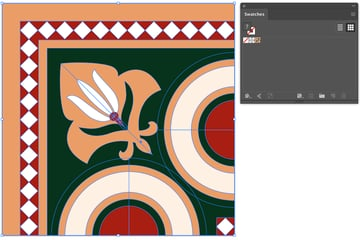 Add corner tile to Swatches panel select all and drag