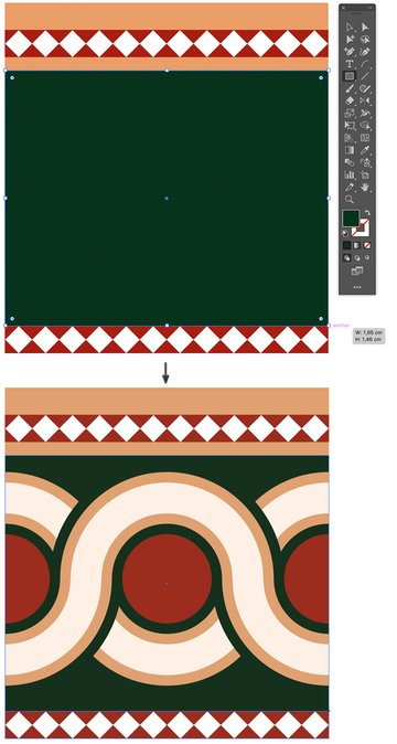 rectangle tool to create backdrop fill and arrange send to back and bring forward