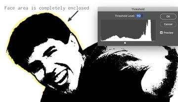 adobe photoshop adjust threshhold in photo for beer label design template