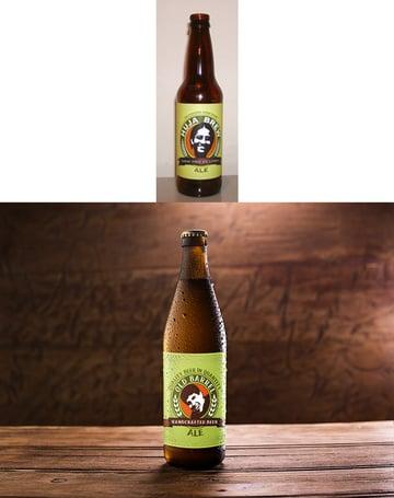 beer bottle mockup and original design print ready beer label