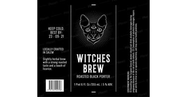 witches brew beer label maker on Placeit