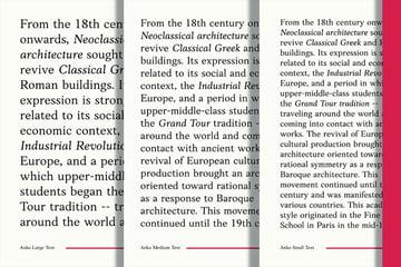 anko font display old style serif roman classic book print layout
