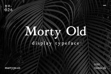 morty old hand written font style classic multilingual similar garamond
