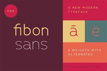 fibon sand font family pair with garamond