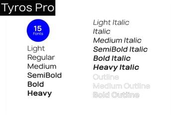 tyros pro font family pair with garamond