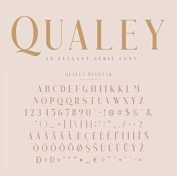 Qualey Elegant Serif Font modern font family envato elements