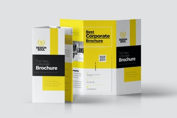 what is a brochure corporate trifold design sample envato elements