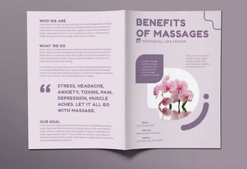 massage brochure bifold graphic template brochure purpose business corporate