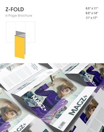 z fold mockup brochure type format fashion