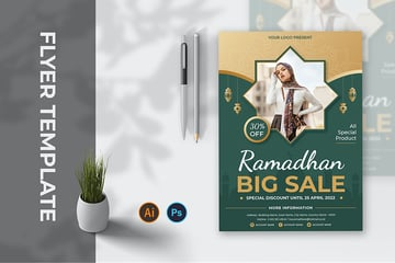 A Ramadan Sale Fyer template for discounts and promotions