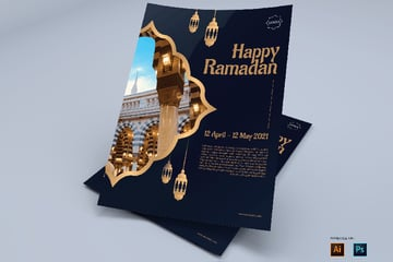 Happy Ramadan Flyer Design Template for professionals or businees found in envato elements