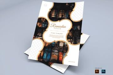 happy ramadan flyer design template envato market  ai eps psd
