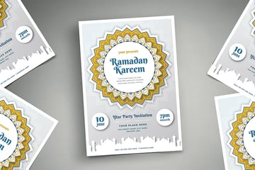 aabesque ramadan kareem iftar party flyer template and invitation card found onnvato elements