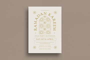 A simple iftar party invitation flyer design available for download on envato elements