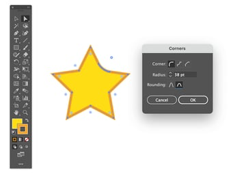 Double-click the Live Corners widget to open the dialog box learn how to adjust rounded corners in illustrator