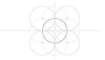 Five-Circle Grid step 5