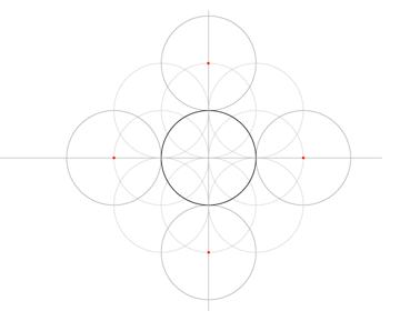 Five-Circle Grid step 6