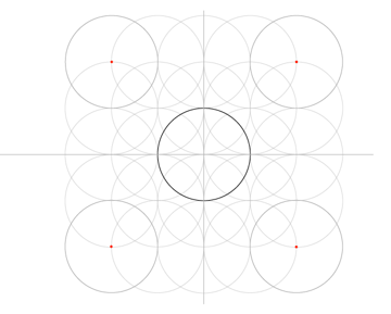 Five-Circle Grid step 8