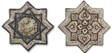 Octagram-shaped tiles
