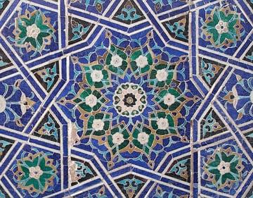 Ten-point star in the Tuman Aqa complex Samarkand