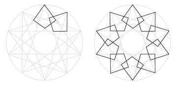 Interlaced star step 2