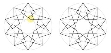 Interlaced star step 3