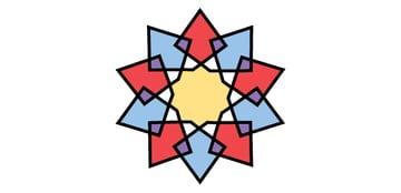 Interlaced star coloured