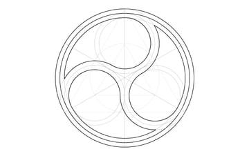 Triskele window step 15