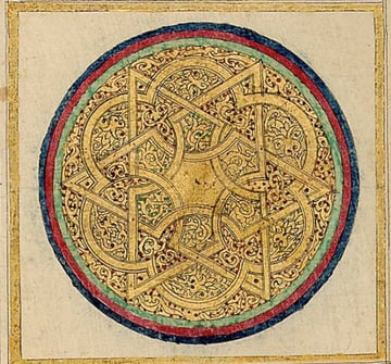 Intricate knot in Chinese Quran