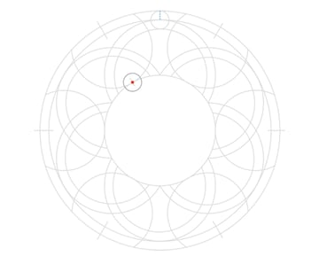 Knot in circle step 8