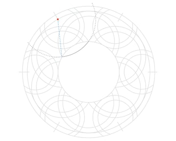Knot in circle step 10a