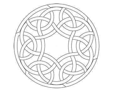 Knot in circle step 12a