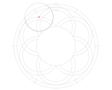 Knot in circle step 7a
