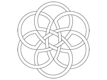 Rose-shaped knot step 5a