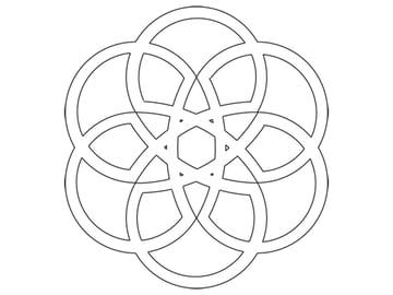 Rose-shaped knot step 5b