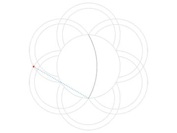 Rose-shaped knot step 3a