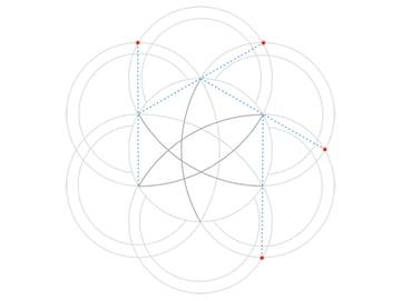 Rose-shaped knot step 3c