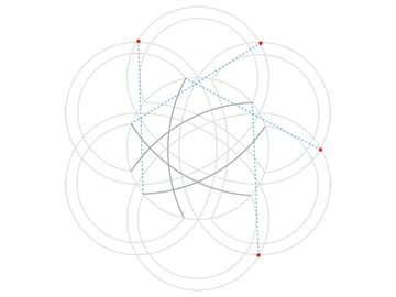 Rose-shaped knot step 4c