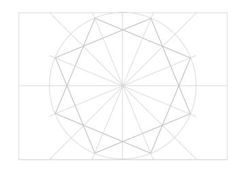 Rosette in rectangle step 17