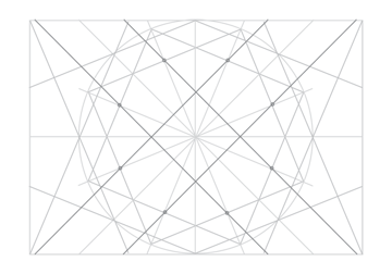 Rosette in rectangle step 20