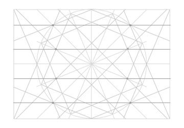 Rosette in rectangle step 21
