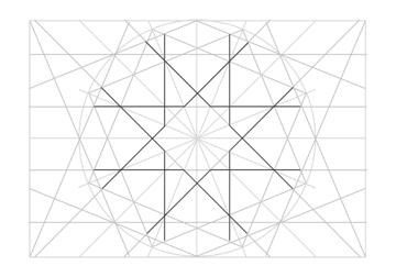 Rosette in rectangle step 23