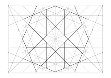Rosette in rectangle step 25